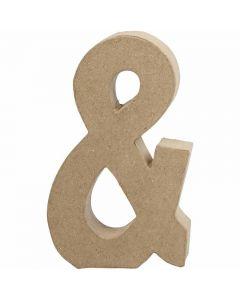 Zeichen, &, H: 19,9 cm, B: 11,5 cm, Dicke 2,5 cm, 1 Stck.