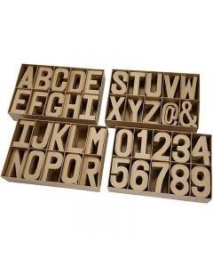 Buchstaben und Zahlen, H: 20,50 cm, Stärke: 2,5 cm, 160 Stck./ 1 Pck.