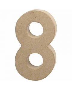 Zahl, 8, H: 20,2 cm, B: 11 cm, Dicke 2,5 cm, 1 Stck.