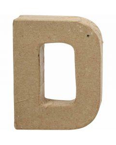 Buchstabe, D, H: 10 cm, B: 7,7 cm, Stärke: 1,7 cm, 1 Stck.