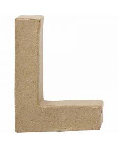 Buchstabe, L, H: 10 cm, B: 7,5 cm, Stärke: 1,7 cm, 1 Stck.