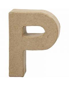 Buchstabe, P, H: 10 cm, B: 7,7 cm, Stärke: 1,7 cm, 1 Stck.