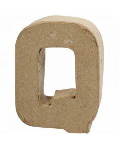 Buchstaben, Q, H: 10 cm, B: 7,8 cm, Dicke 1,7 cm, 1 Stck.