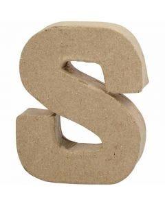 Buchstabe, S, H: 10 cm, B: 8 cm, Stärke: 1,7 cm, 1 Stck.
