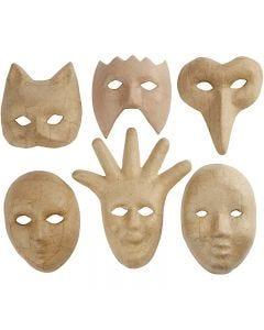 Masken, H: 12-21 cm, 6 Stck./ 1 Pck.