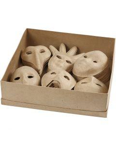 Masken, H: 12-21 cm, 6x10 Stck./ 1 Pck.