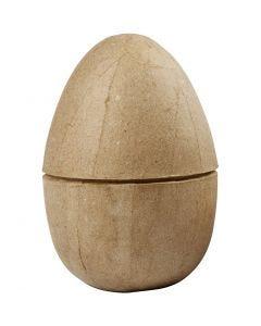 Zweiteiliges Ei, H: 12 cm, D: 9 cm, 1 Stck.