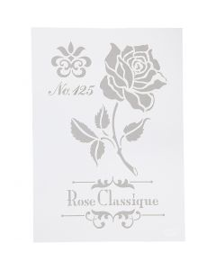 Schablone, Rose, A4, 210x297 mm, 1 Stck.