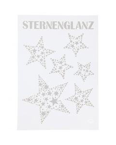 Schablone, Sterne, A4, 210x297 mm, 1 Stck.
