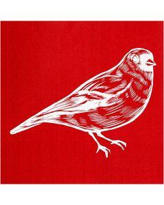 Siebdruck-Schablonen, Vogel, 20x22 cm, 1 Bl.