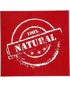 Siebdruck-Schablonen, Natural, 20x22 cm, 1 Bl.