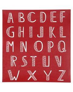 Siebdruck-Schablonen, Alphabet, 20x22 cm, 1 Bl.