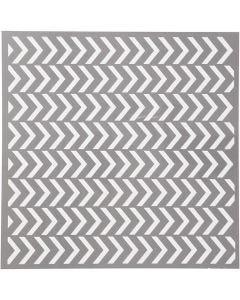 Schablone, Pfeil-Muster, Größe 30,5x30,5 cm, Stärke: 0,31 mm, 1 Bl.