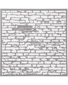 Schablone, Backsteinmauer, Größe 30,5x30,5 cm, Stärke: 0,31 mm, 1 Bl.