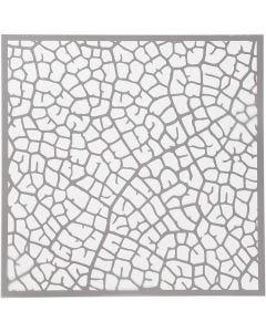 Schablone, Blattadern, Größe 30,5x30,5 cm, Stärke: 0,31 mm, 1 Bl.
