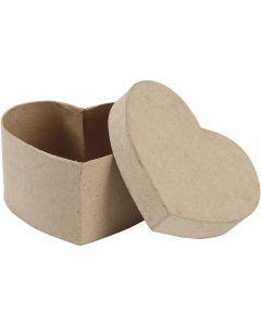 Herzförmige Dose, H: 6 cm, Größe 11,5x11,5 cm, 1 Stck.