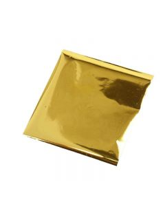 Bastelfolie, 10x10 cm, Gold, 30 Bl./ 1 Pck.