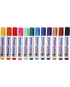Whiteboard Marker, Strichstärke 4 mm, Sortierte Farben, 12 Stck./ 1 Pck.