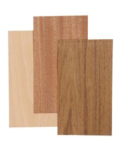 Bambus-Furnierplatten, 12x22 cm, Stärke: 0,75 mm, 3 Bl./ 1 Pck.