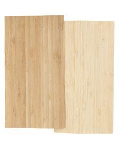 Bambus-Furnierplatten, 12x22 cm, Stärke: 0,75 mm, 2 Bl./ 1 Pck.