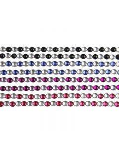 Strasssteine zum Aufkleben, L: 15 cm, B: 4 mm, Schwarz, Blau, Flieder, Rot, 8 Bl./ 1 Pck.