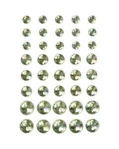 Strasssteine, Größe 6+8+10 mm, Grün, 40 Stck./ 1 Pck.