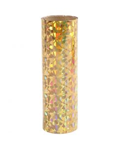 Dekofolie, B: 15,5 cm, Stärke: 0,02 mm, Gold, 50 cm/ 1 Rolle