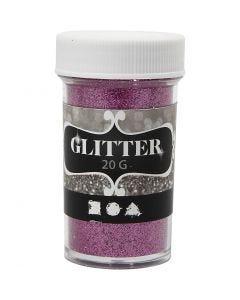 Glitter, H: 60 mm, D: 35 mm, Pink, 20 g/ 1 Dose