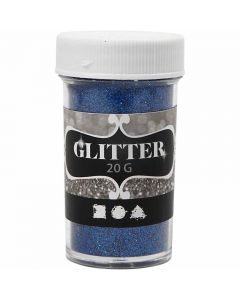 Glitter, H: 60 mm, D: 35 mm, Blau, 20 g/ 1 Dose