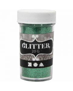 Glitter, H: 60 mm, D: 35 mm, Grün, 20 g/ 1 Dose