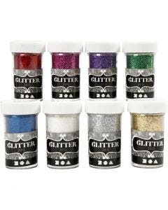 Glitter, Sortierte Farben, 8x20 g/ 1 Pck.