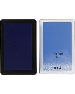 Stempelkissen, H: 2 cm, Größe 9x6 cm, Blau, 1 Stck.