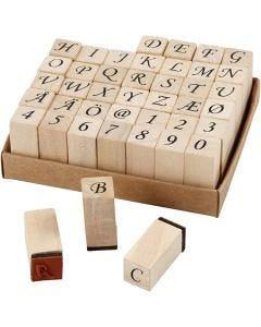 Stempel, H: 32 mm, Größe 13x13 mm, 42 sort./ 1 Set