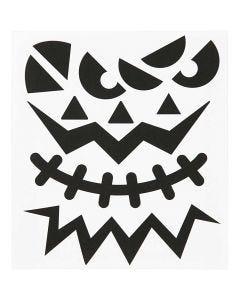 Fancy Sticker, Halloween - große Gesichter, 15x16,5 cm, 1 Bl.