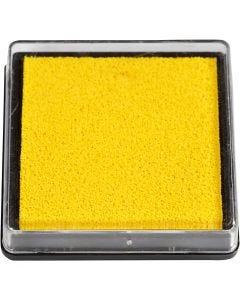 Stempelkissen, Größe 40x40 mm, Gelb, 1 Stck.