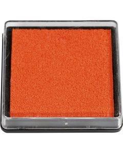 Stempelkissen, Größe 40x40 mm, Orange, 1 Stck.