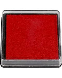 Stempelkissen, Größe 40x40 mm, Rot, 1 Stck.