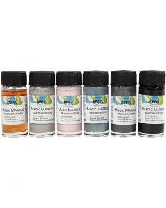 Marmorierungsfarbe Magic Marble, Pastellfarben, 6x20 ml/ 1 Pck.