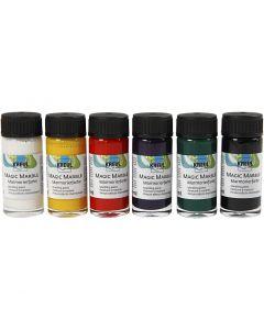 Marmorierungsfarbe Magic Marble, Standard-Farben, 6x20 ml/ 1 Pck.