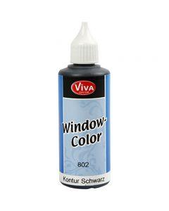 Window Color - Konturfarbe, Schwarz, 80 ml/ 1 Fl.