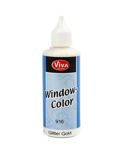 Window-Color, Gold mit Glitter, 80 ml/ 1 Fl.