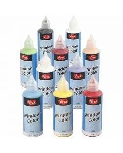 Window-Color, Sortierte Farben, 10x80 ml/ 1 Pck.