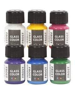 Glass Color Frost, Sortierte Farben, 6x30 ml/ 1 Pck.