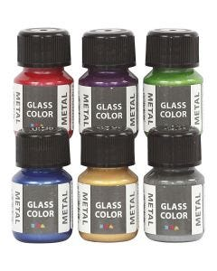 Glass Color Metal, Sortierte Farben, 6x30 ml/ 1 Pck.