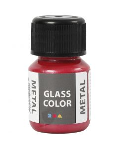 Glass Color Metal, Rot, 30 ml/ 1 Fl.