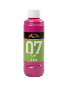A-Color Glas-/Porzellanfarbe, Pink, 250 ml/ 1 Fl.
