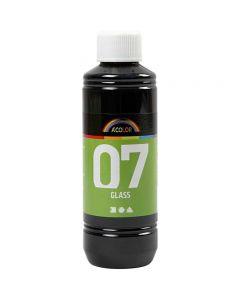 A-Color Glas-/Porzellanfarbe, Schwarz, 250 ml/ 1 Fl.