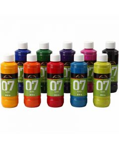 A-Color Glass, Sortierte Farben, 10x250 ml/ 1 Box