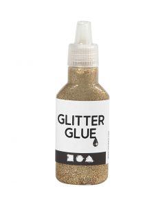 Glitzerkleber, Gold, 25 ml/ 1 Fl.