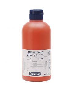 Schmincke AKADEMIE® Acrylfarbe, Halbtransparent, Orange (230), 500 ml/ 1 Fl.
